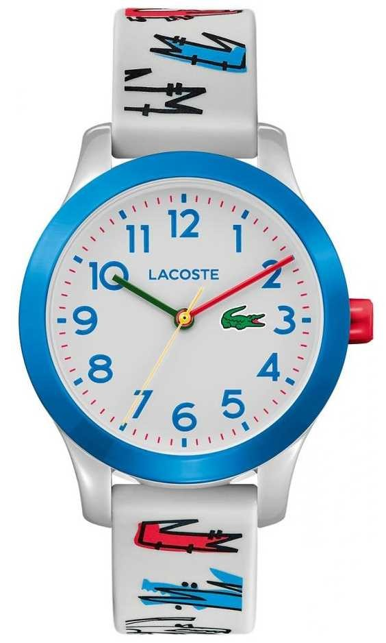 Lacoste 12.12 Kids | White Rubber Printed Strap | White Dial | 2030021