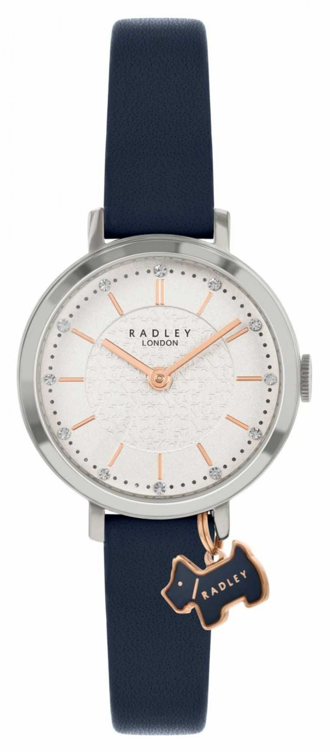 Radley Selby Street | Navy Leather Strap | Silver Dial | RY2861