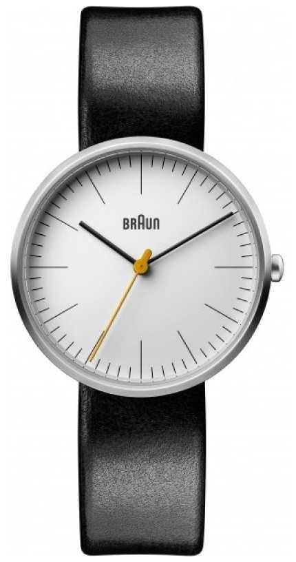 Braun Women's Classic White Dial Black Leather Strap BN0173WHBKL