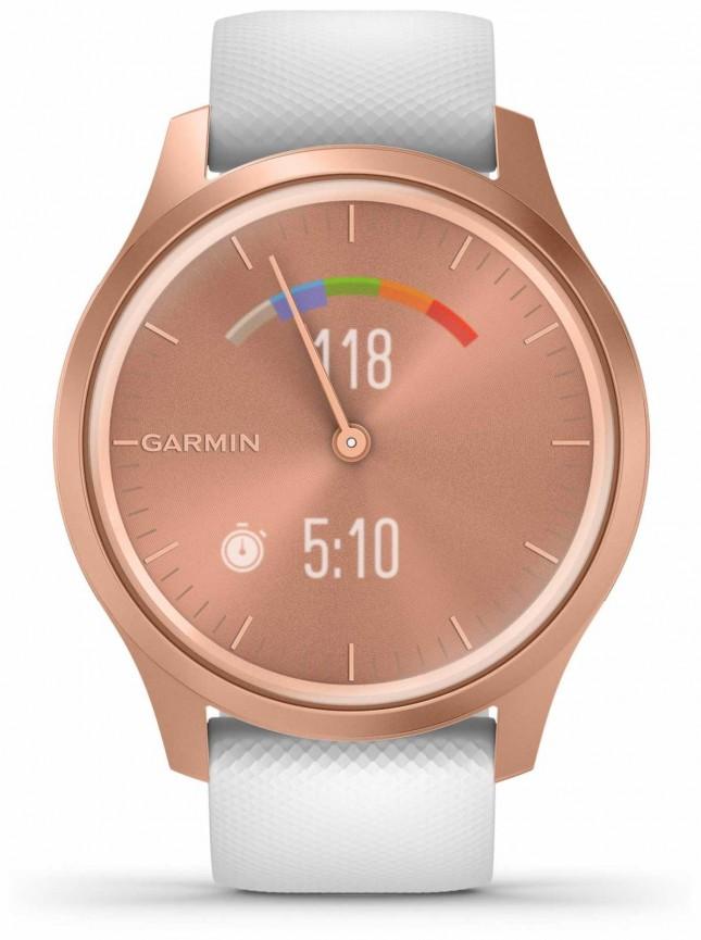 Garmin Vivomove 3 Style | Rose Gold Aluminium Case | White Strap 010-02240-00