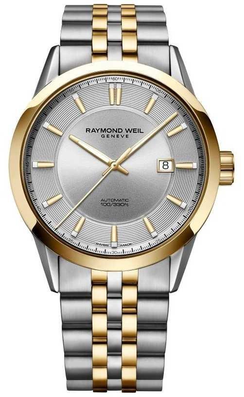 Raymond Weil Mens Freelancer Automatic Two Tone Bracelet Silver Dial 2731-STP-65001