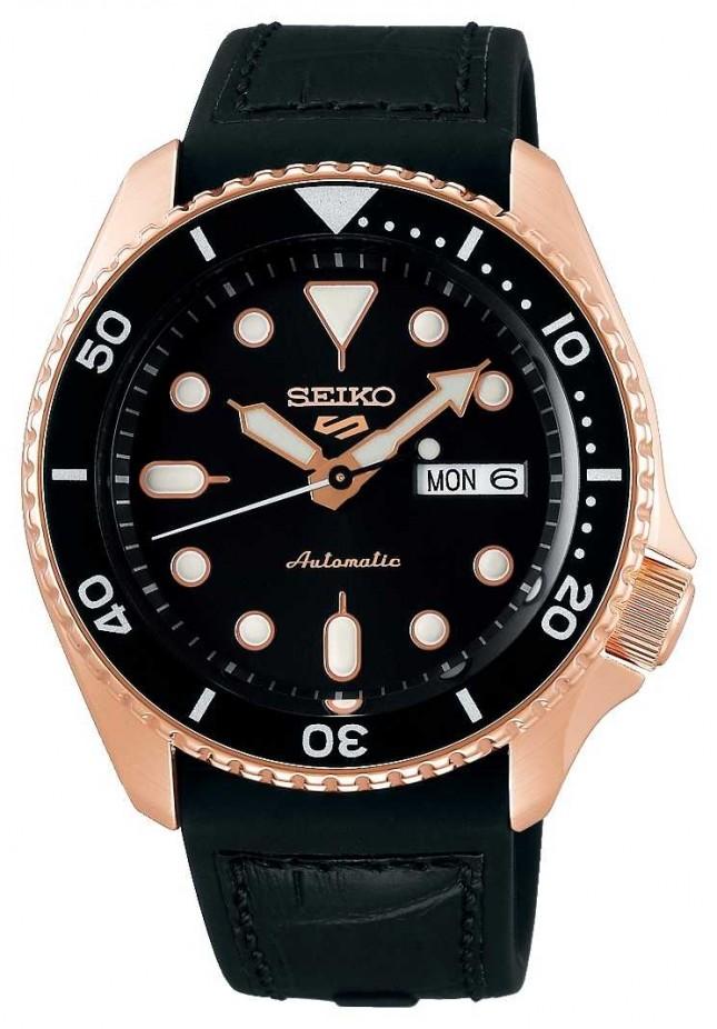 Seiko 5 Sport | Specialist | Automatic | Rose Gold & Black SRPD76K1