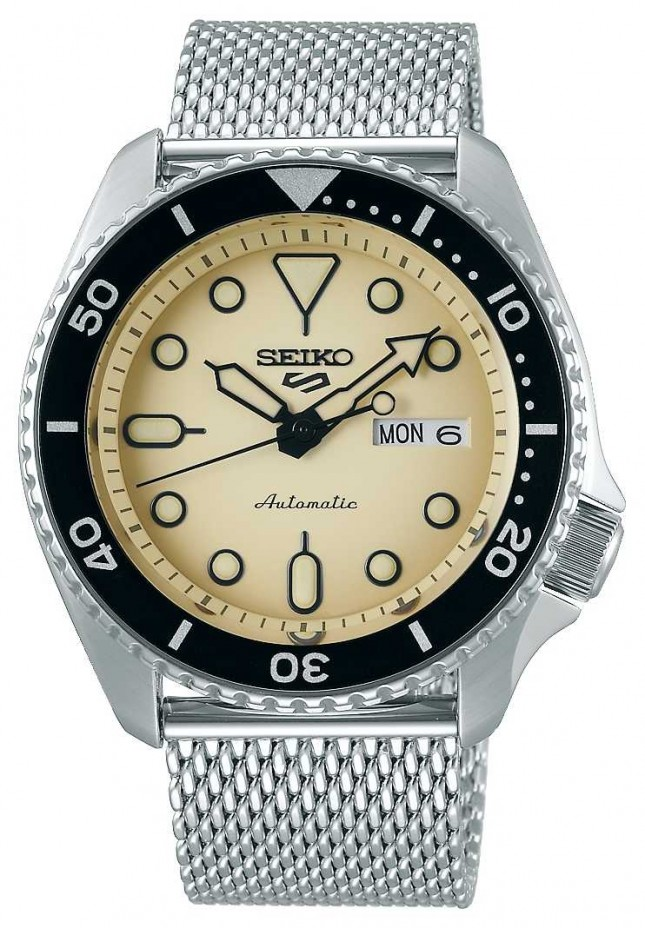 Seiko 5 Sport | Suits | Automatic | Champagne Dial | Steel Mesh SRPD67K1