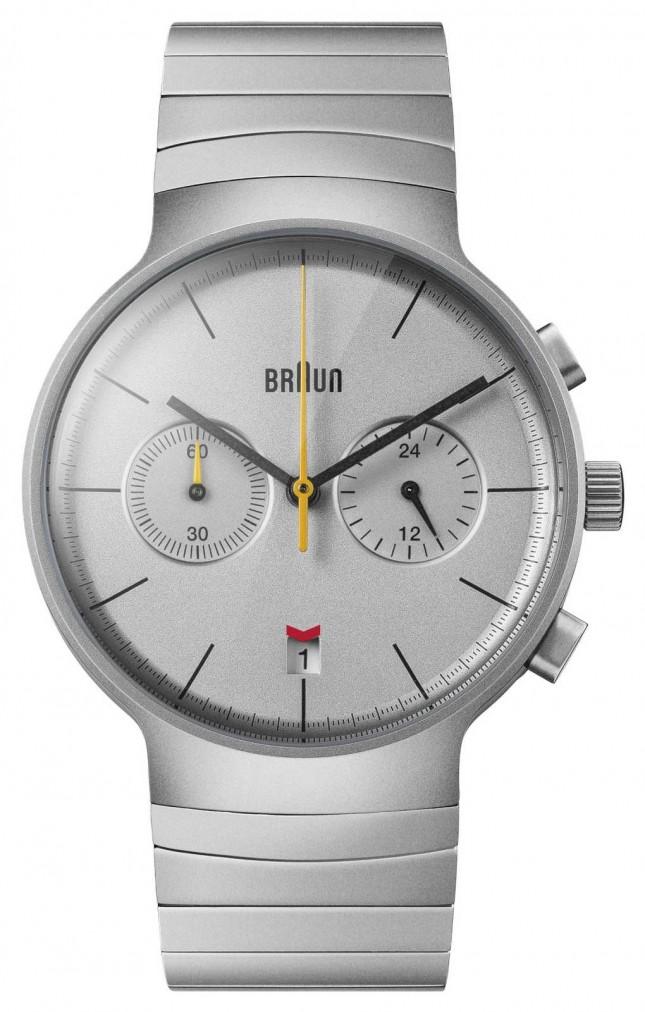 Braun Men's Chrono   Silver Dial   Stainless Steel Bracelet BN0265SLBTG