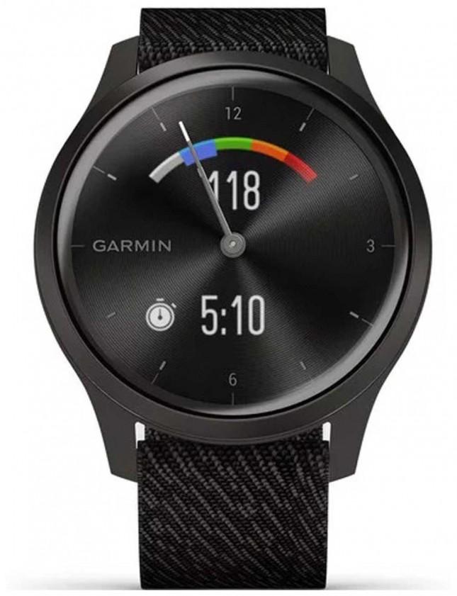 Garmin Vivomove 3 Style   Graphite Aluminium Case   Black Strap 010-02240-03