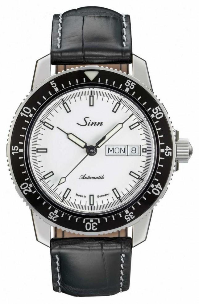 Sinn 104 St Sa I W Classic Pilot Watch Alligator Embossed Leather 104.012-BL44201851001225401A