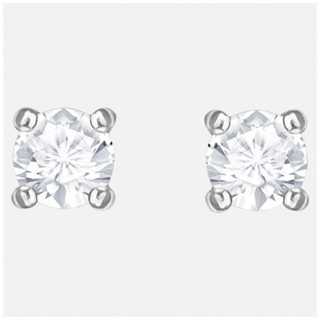 Swarovski Attract | Rhodium plated | White | Round | Stud Earings 5408436