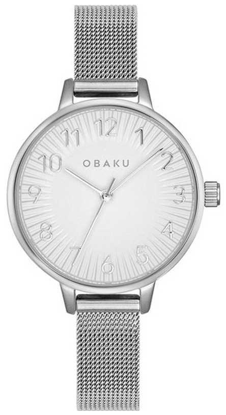 Obaku   Women's Syren Steel   Silver Mesh Bracelet   Silver Dial   V237LXCIMC