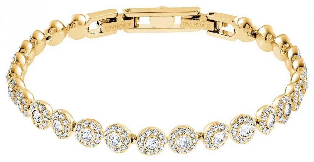Swarovski Angelic | Gold Plated Bracelet | White Stones 5505469