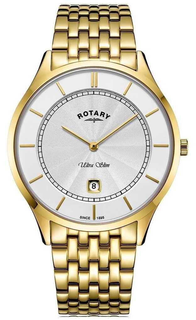 Rotary Mens Ultra Slim Gold Plated Bracelet GB08413/02