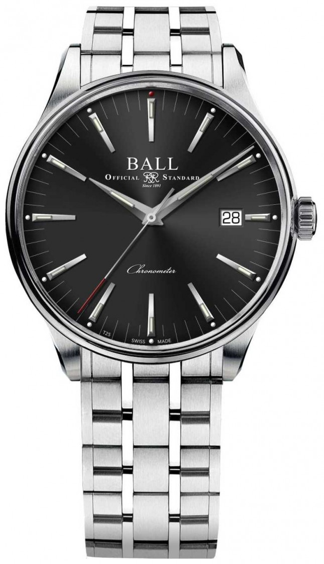 Ball Watch Company Trainmaster Manufacture 80 Hour Power Reserve 40mm NM3280D-S1CJ-BK