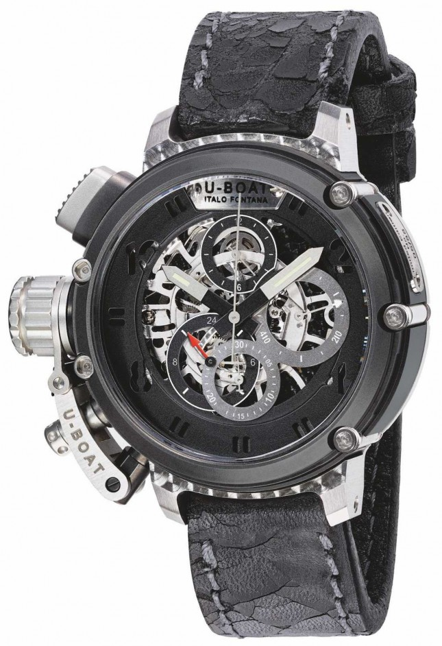 U-Boat Mens Chimera 46 Stsinless Steel Skeleton Limited Edition 8028