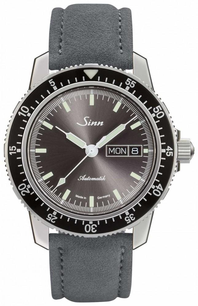 Sinn 104 St Sa I A   Suede Grey Leather Strap 104.014 SUEDE GREY