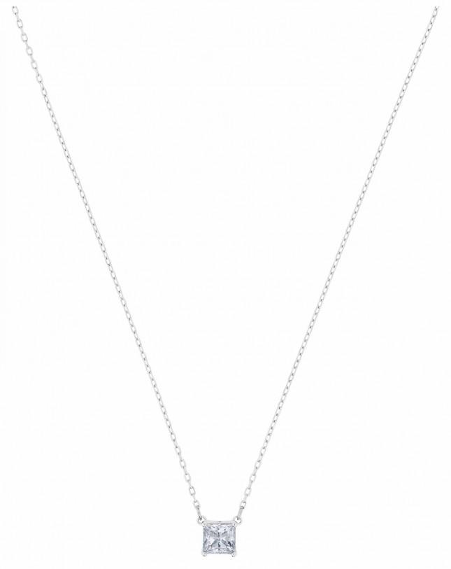 Swarovski Attract | Rhodium Plated |White | Square | Necklace 5510696