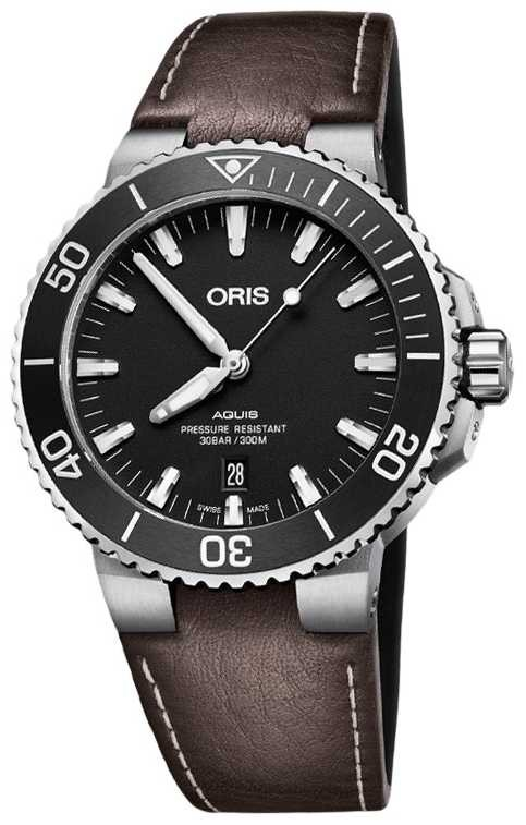 ORIS Aquis Swiss Date 43.5mm Mens Watch 01 733 7730 4124 07 5 24 10EB