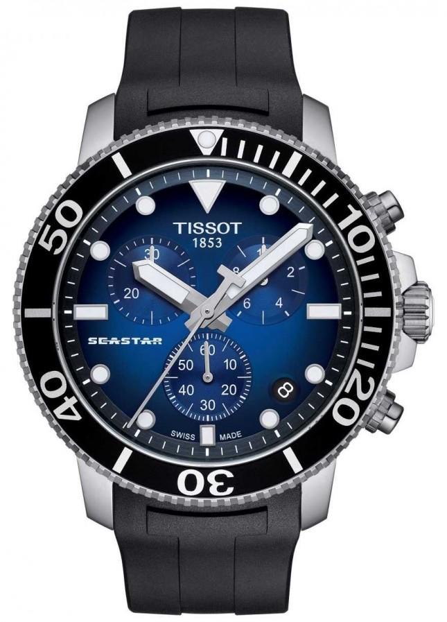 Tissot Mens Seastar 1000 Quartz Chronograph Stainless Steel T1204171704100