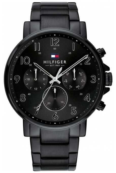Tommy Hilfiger Daniel | Black IP Steel Bracelet | Black Dial 1710383