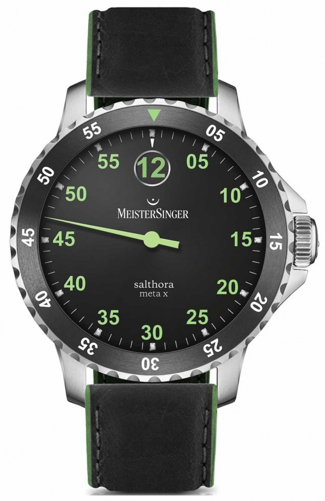 MeisterSinger Men's Classic Plus Salthora Meta X Automatic Black Green SAMX902GR