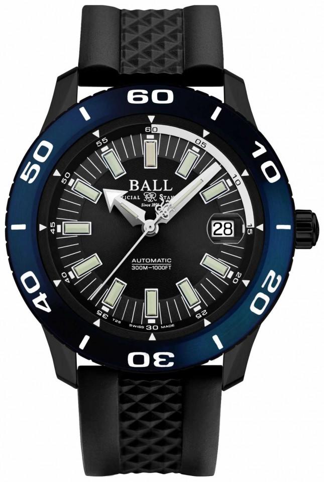 Ball Watch Company Fireman Automatic NECC Blue Bezel Date Display DM3090A-P5J-BK