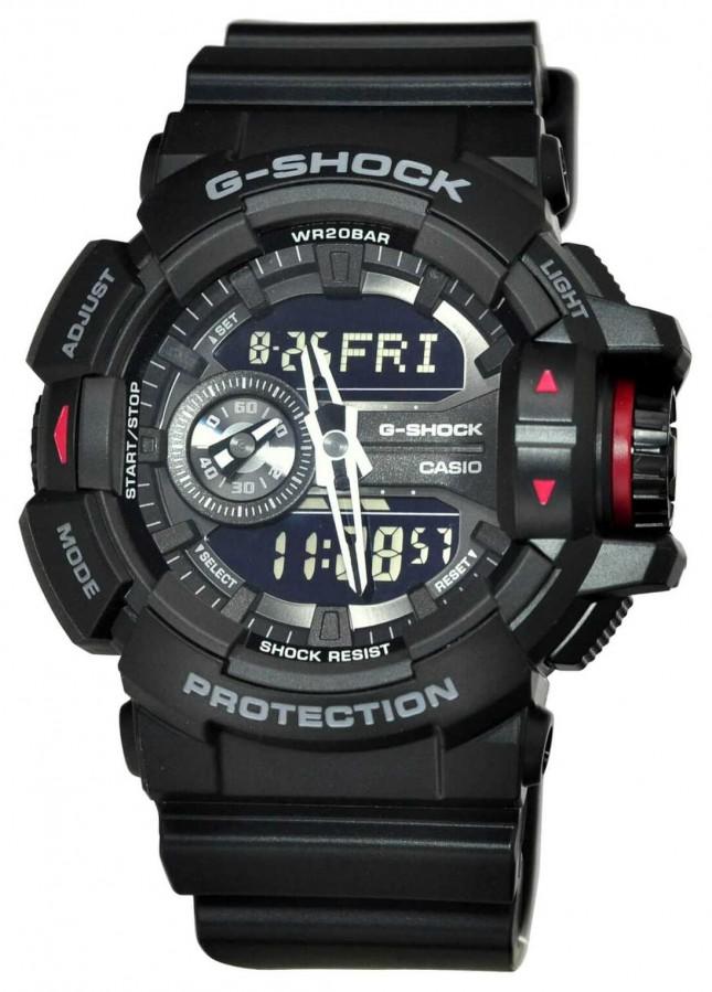 Casio Mens G-Shock Black Chronograph Watch GA-400-1BER