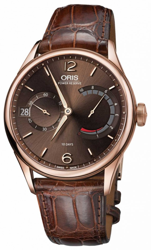 ORIS Artelier Caliber 111 Brown Leather Strap 01 111 7700 6062-set 1 23 76