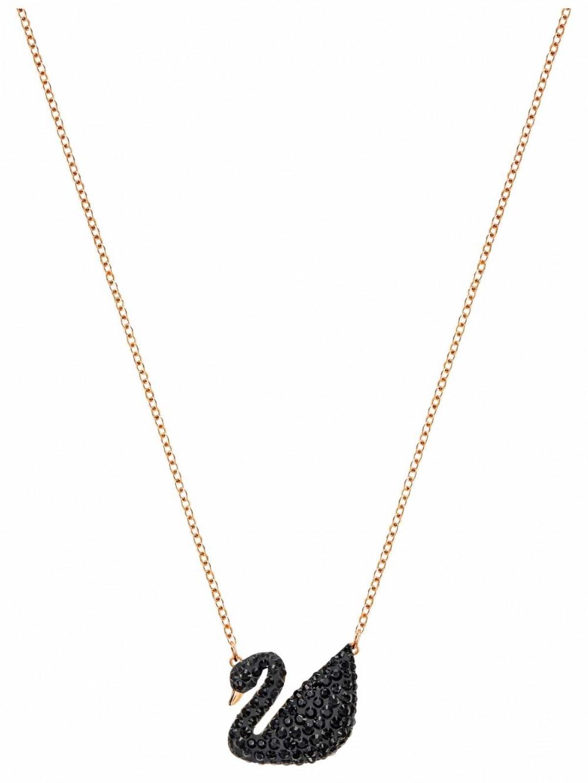 Swarovski | Iconic | Black Swan Pendant | Rose Gold Plated Necklace 5204134