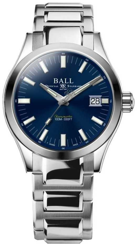 Ball Watch Company Men's Engineer M Marvelight 40mm Stainless-steel Blue Dial NM2032C-S1C-BE
