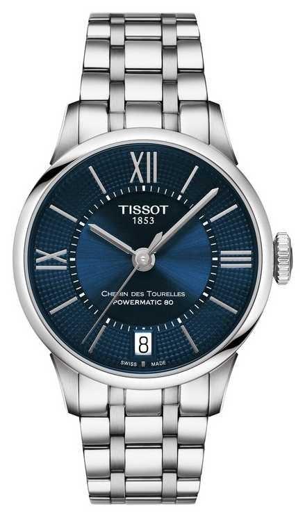 Tissot Chemin Des Tourelles Powermatic 80 Stainless Steel Blue Dial T0992071104800