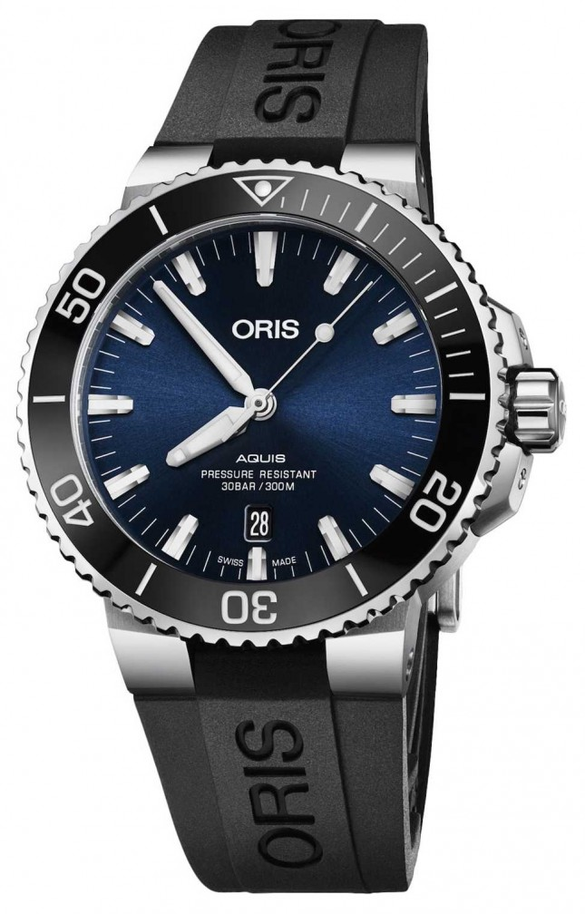 ORIS Aquis Date 43.5mm Mens Watch | Rubber Strap | 01 733 7730 4135-07 4 24 64EB