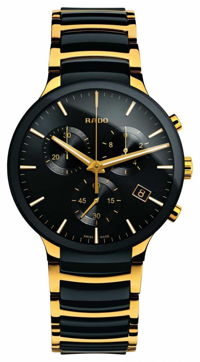 RADO Centrix Chronograph XL Gold Tone High-Tech Ceramic R30134162