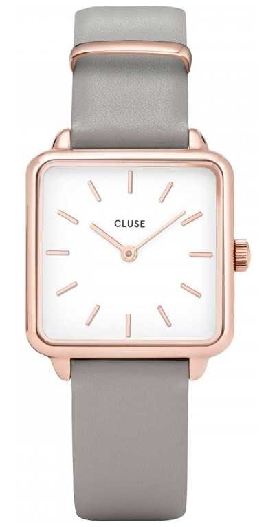 CLUSE | La Tétragone | Grey Leather Strap | White Dial | CW0101207004