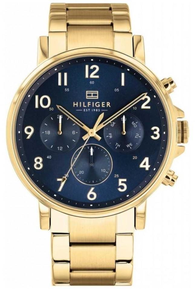 Tommy Hilfiger Daniel | Gold IP Bracelet | Blue Dial 1710384