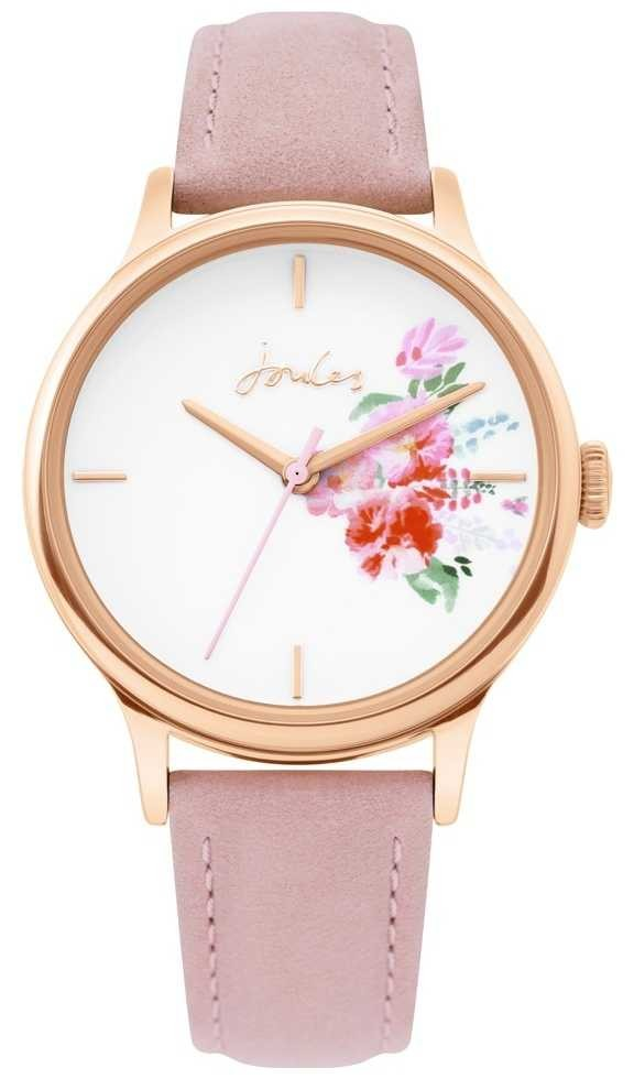 Joules | Ladies Watch | Nude Leather Strap | Rose Gold Case | JSL017PRG