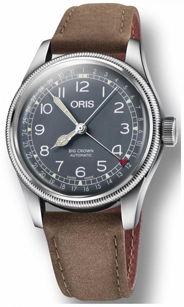 ORIS Big Crown Pointer Date Brown Leather Strap 01 754 7741 4065-07 5 20 63