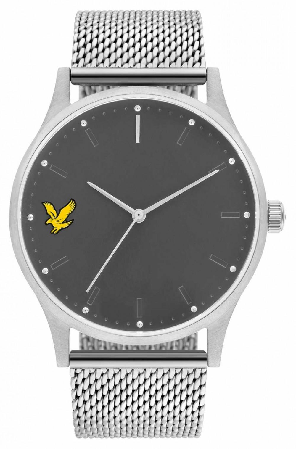Lyle & Scott Mens Hope SE Stainless Steel Mesh Bracelet Grey Dial LS-6013-11
