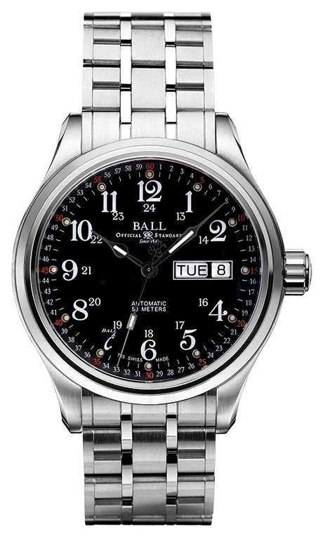 Ball Watch Company Company 60 Seconds Black Dial Day & Date Display NM1058D-S3J-BK