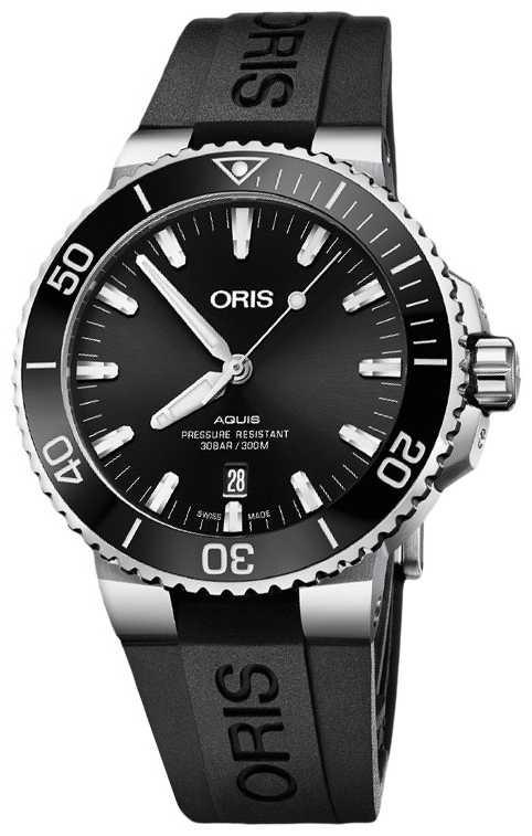 ORIS Aquis Date 43.5mm Mens Watch | Rubber Strap | 01 733 7730 4134-07 4 24 64EB