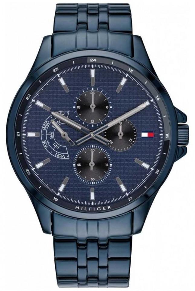 Tommy Hilfiger Shawn | Blue IP Bracelet | Blue Dial 1791618