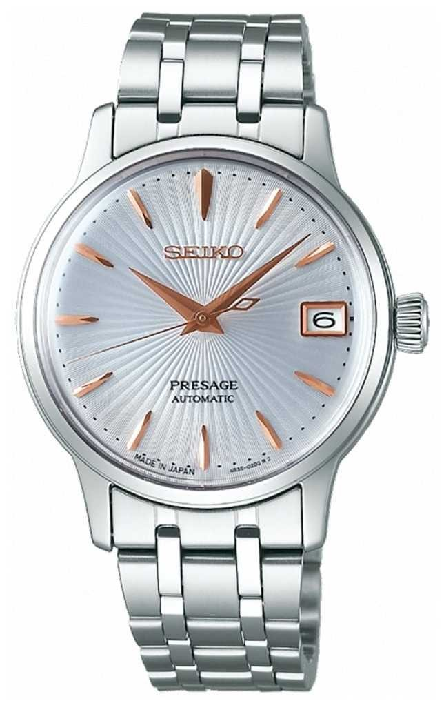 Seiko Presage Womens Automatic Watch Rose Gold And Silver SRP855J1