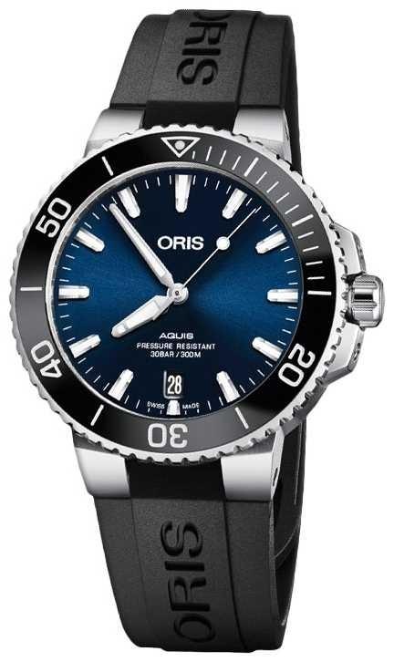 ORIS | Aquis | Diver's | Automatic | Rubber Strap | 01 733 7732 4135-07 4 21 64FC