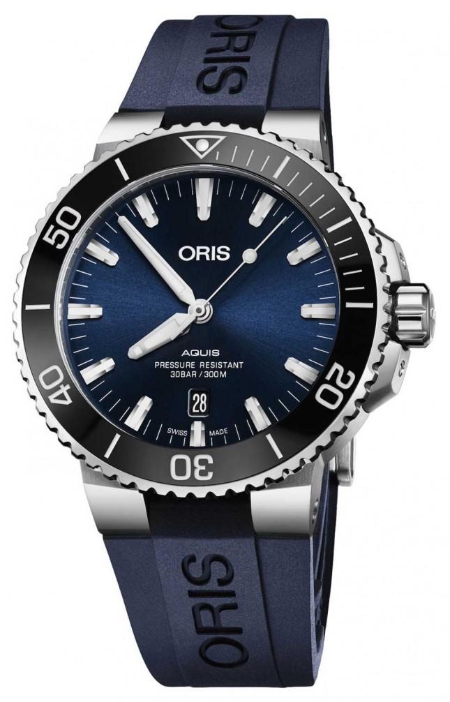 ORIS Aquis Date 43.5mm Mens Watch | Rubber Strap | 01 733 7730 4135-07 4 24 65EB