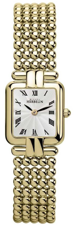 Michel Herbelin Women's | Classic Gold | Perles Watch 17473/BP08