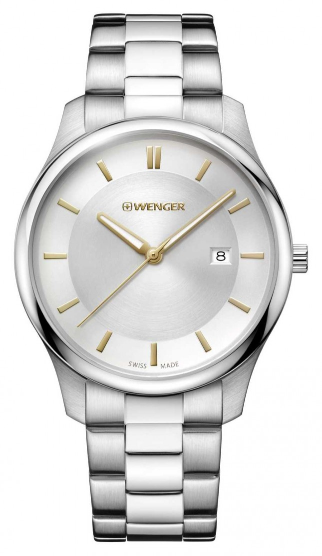 Wenger mens City Classic Stainless Steel Watch 01.1441.105