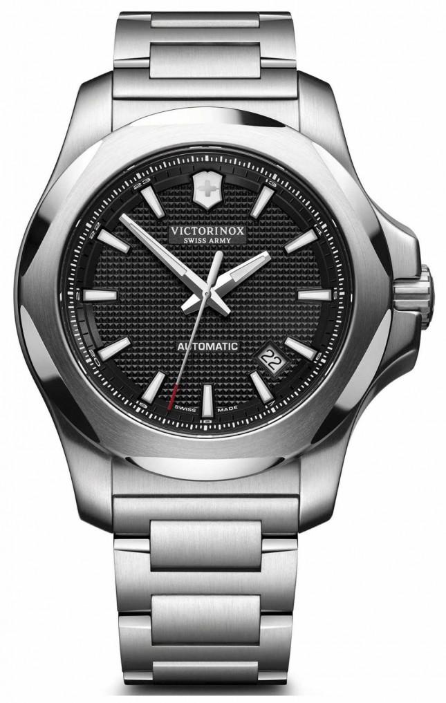 Victorinox Swiss Army Mens Mechanical Stainless Steel Bracelet Black Dial 241837
