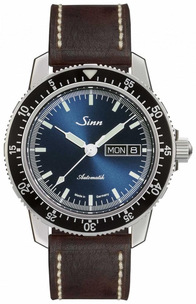 Sinn 104 St Sa I B   Dark Brown Vintage Brown Leather Strap 104.013-BL50202002007125401A