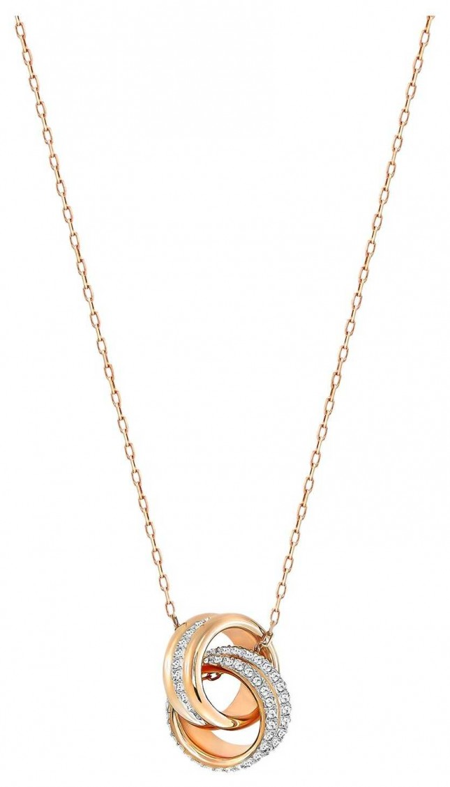 Swarovski Further | Rose Gold Plated Pendant Necklace | White Stones 5240525