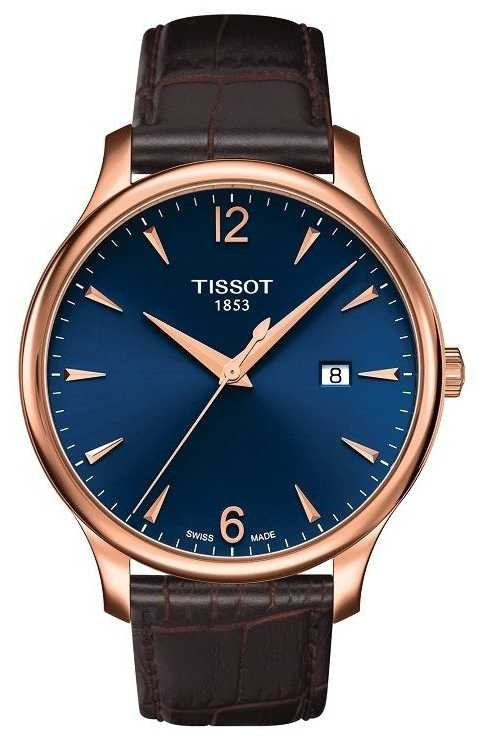 Tissot | Men's Tradition | Brown Leather Strap | Blue Dial | T0636103604700