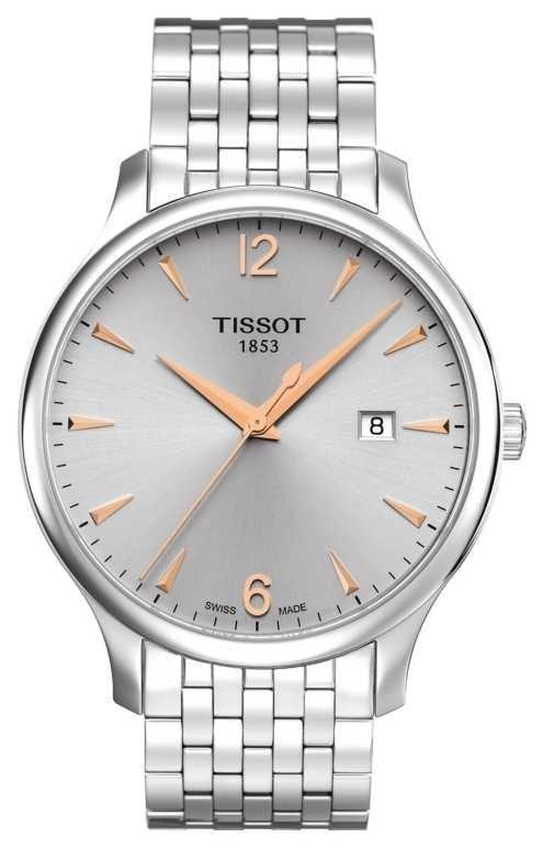 Tissot   Men's Tradition   Stainless Steel Bracelet   Silver Dial T0636101103701