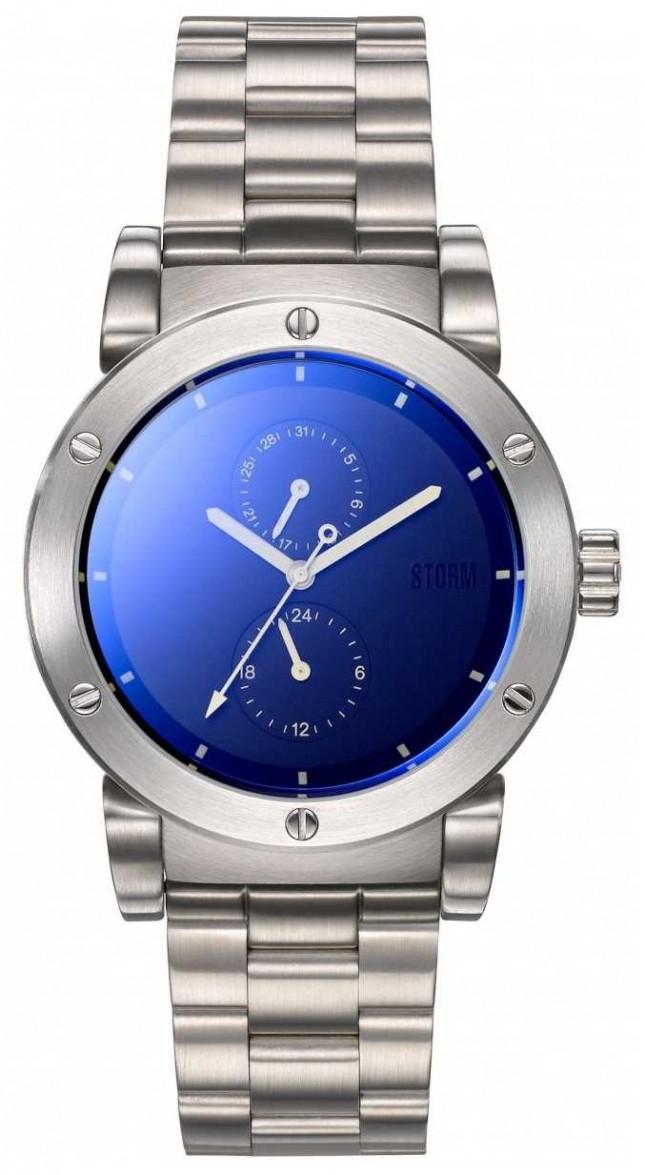 STORM | Hydron V2 Lazer Blue | Stainless Steel Bracelet |Blue Dial 47461/LB