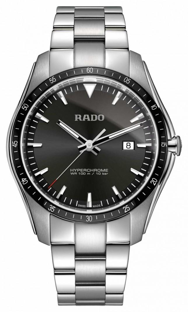 RADO XXL HyperChrome Stainless Steel Black Dial Watch R32502153